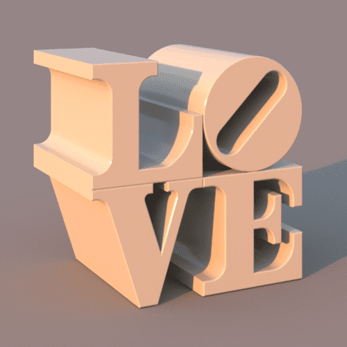 Revit Family LOVE Sculpture | Decorations